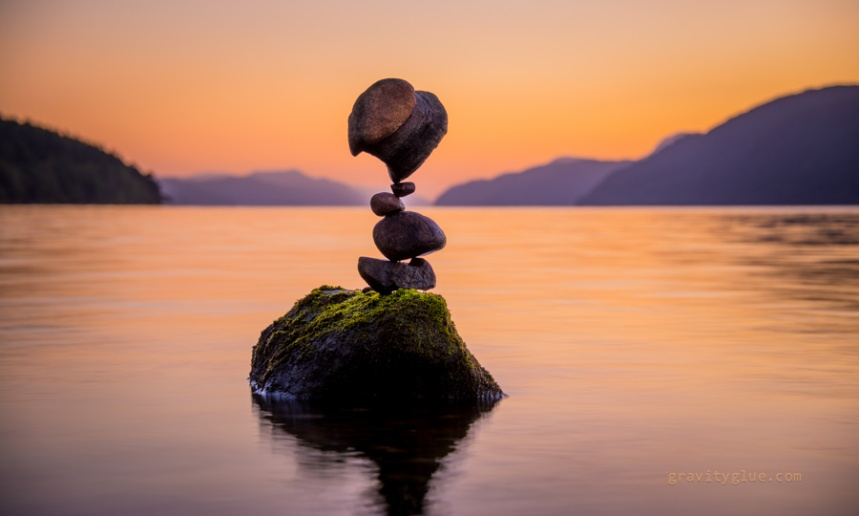 balancing rocks by gravity glue insipration