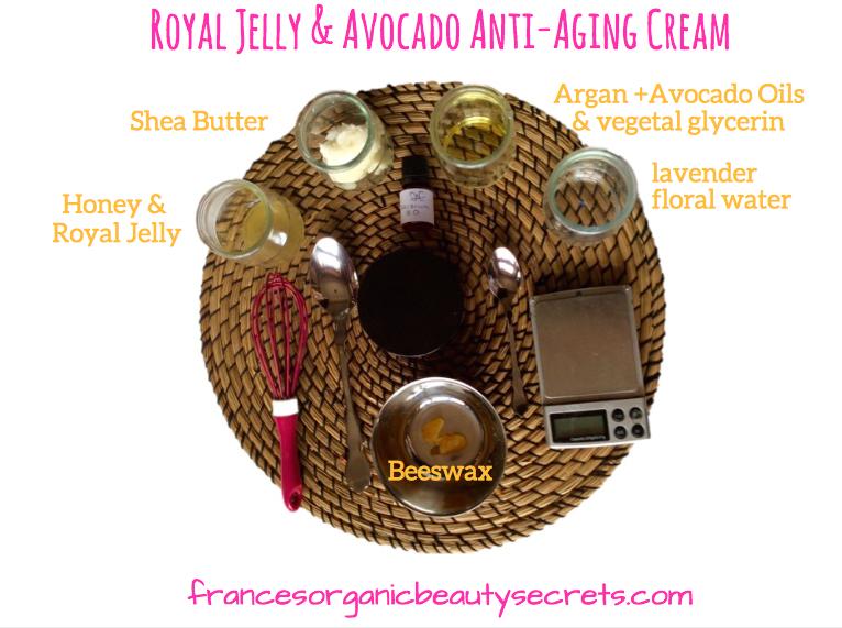 royal-jelly-avocado-cream-ingredients-diy