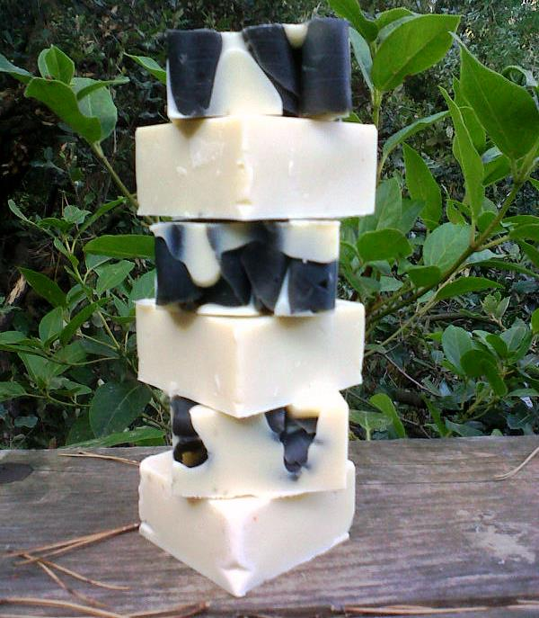 Aix-en-Provence black and white curly soaps