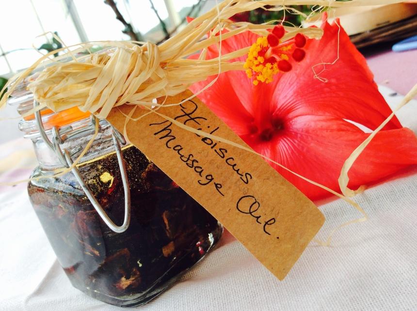 hibiscus macerated oil diy