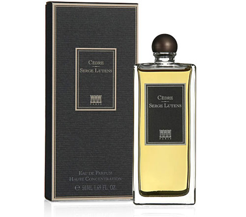 cedre from serge lutens with cedar wood fragrance