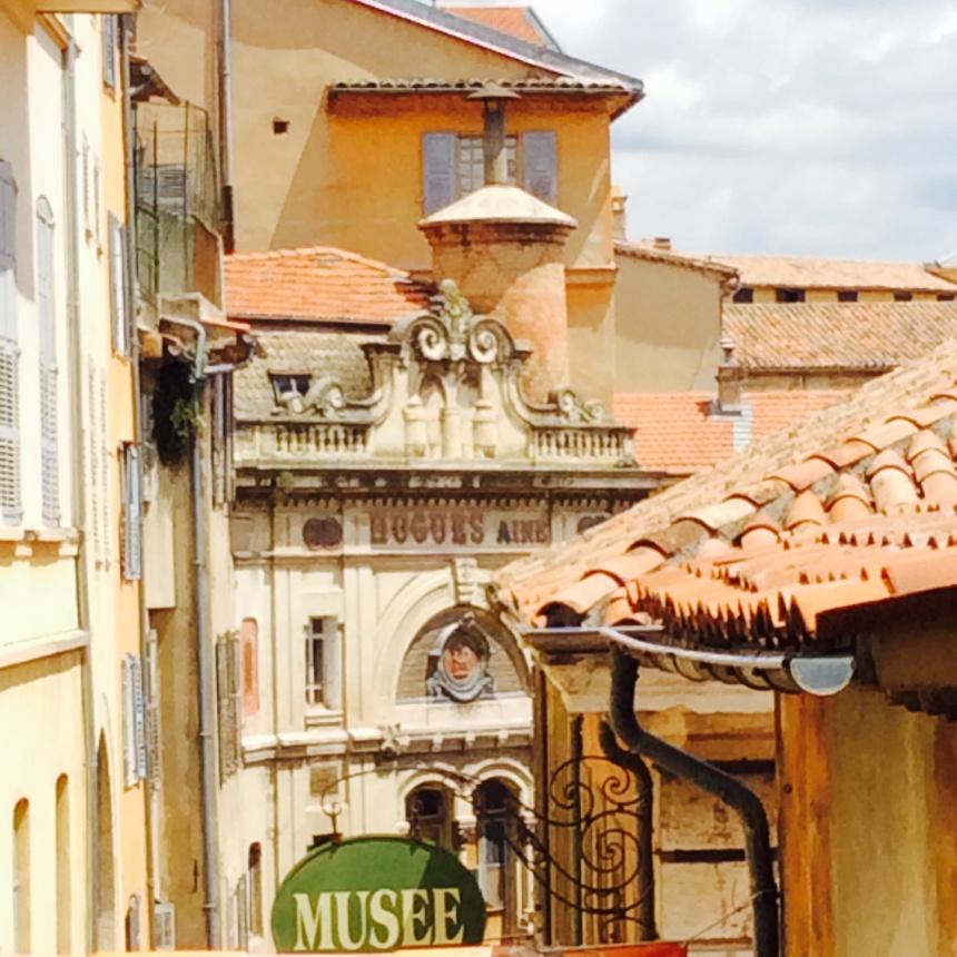 Street in Grasse, capital of perfumery