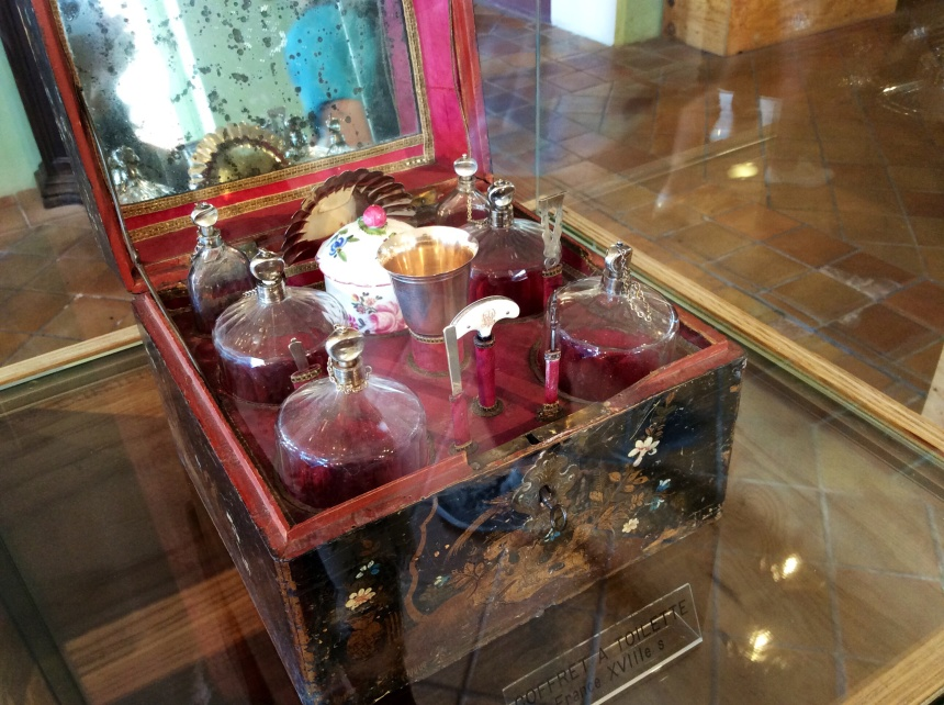 Set of antic perfume bottles