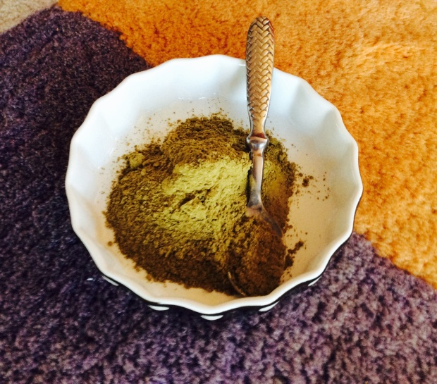 green clay ingredient for hair mask