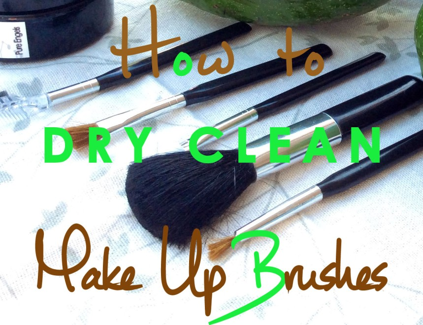 make up brushes dry cleaning