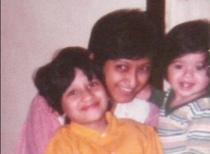 My sister (L), Mom and Toothy Me (R)