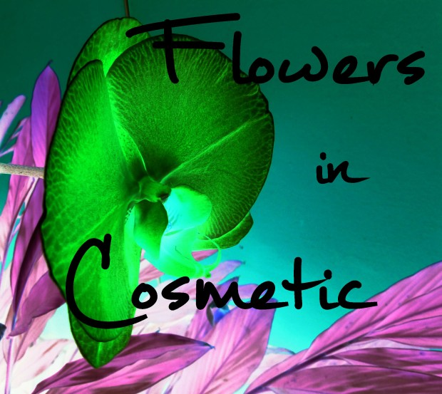 flowers in cosmetic