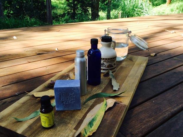 homemade moisterizing shower gel from castille soap