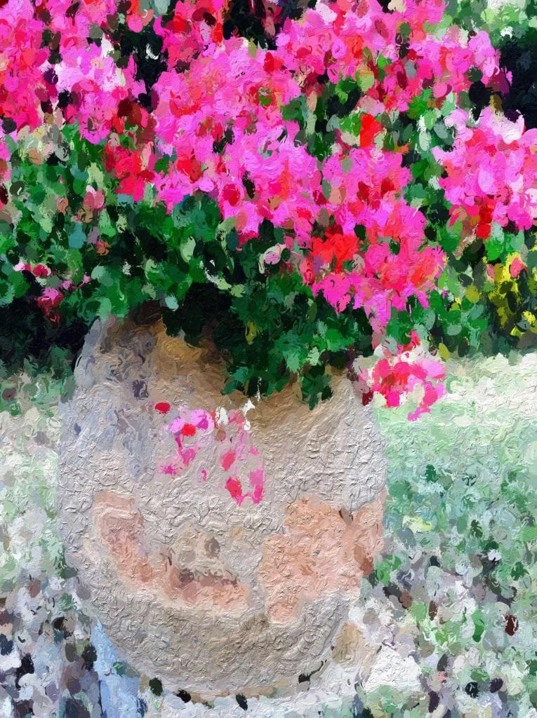 geranium flowers in cosmetic