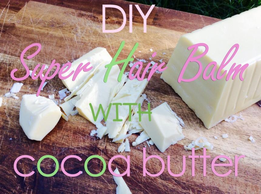 white cocoa butter hair balm