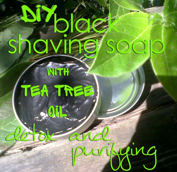 black shaving soap