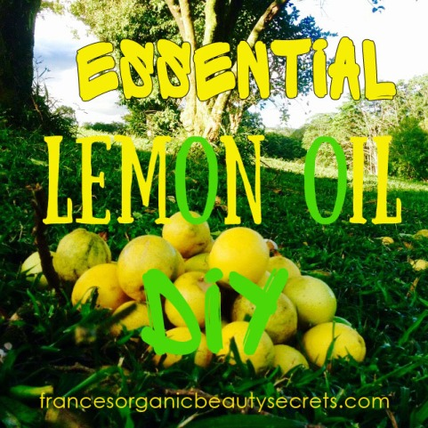essential lemon oil diy