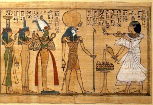egyptians using essential oils