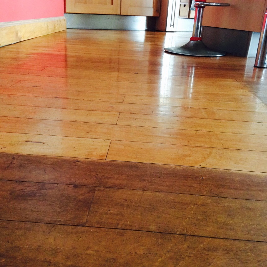 restoring wood floor with natural ingredients