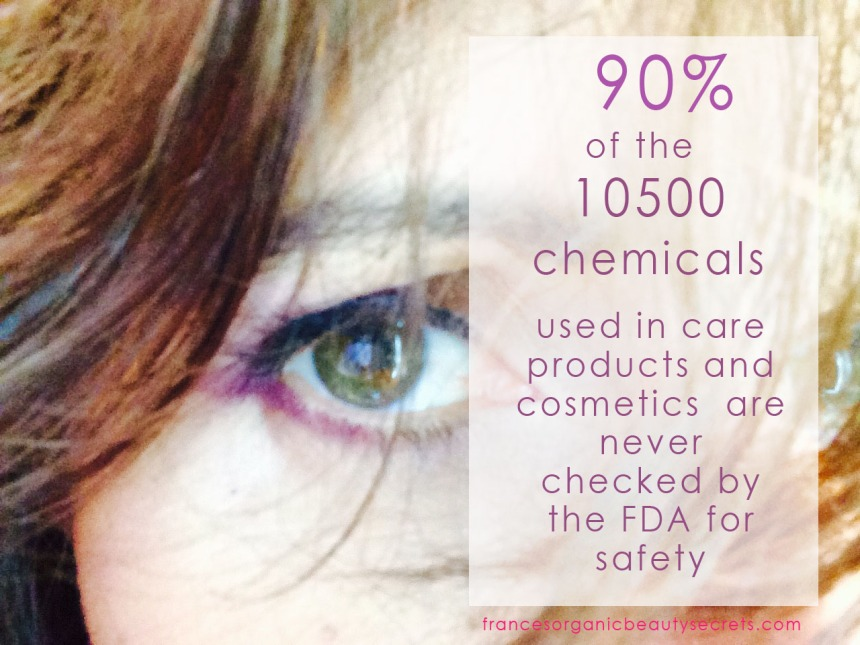 90% of chemicals in cosmetics