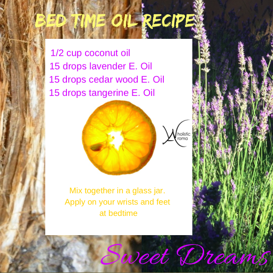 bed time oil recipe