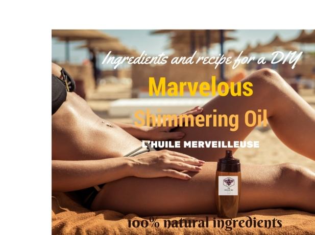 shimmering oil