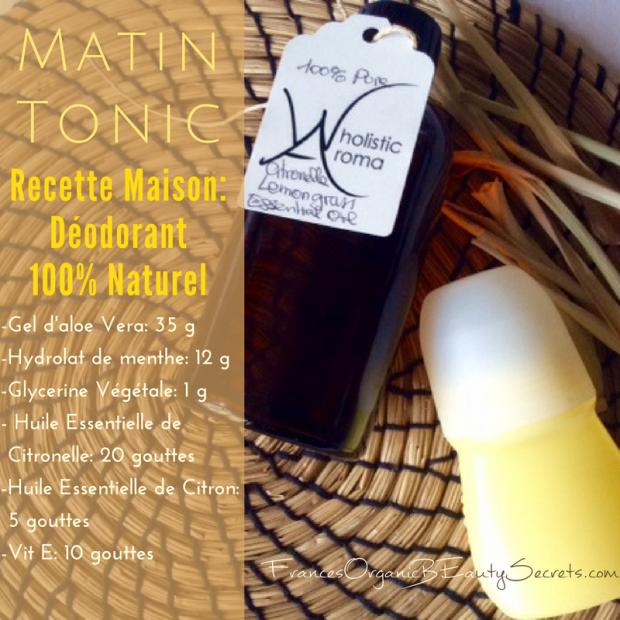 deodorant citronelle recette maison