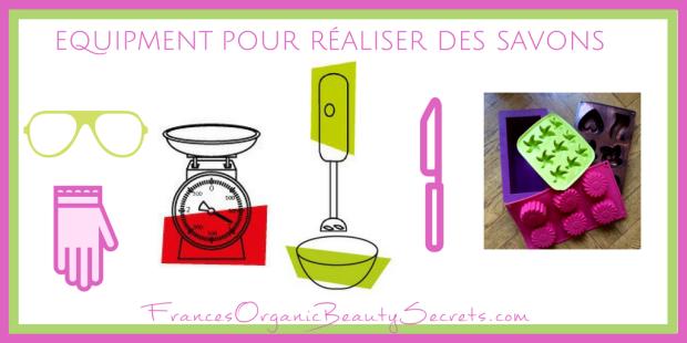 equipment pour realiser des savons