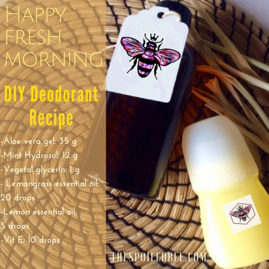lemongrass deodorant recipe TSB