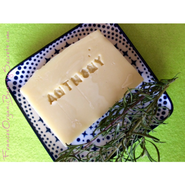 rosemary soap personnalized